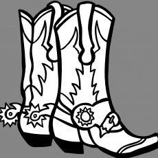 230x230 Marvellous Coloring Pages Cowboy Boots Boot Colouring Securank