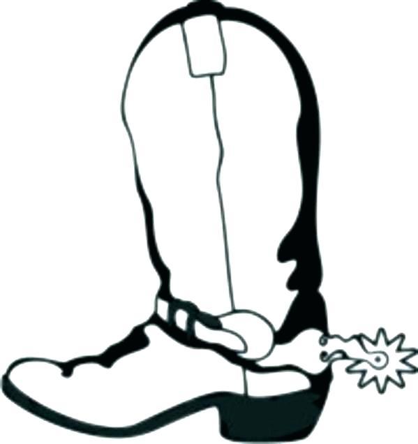 599x636 Cowboy Boots Coloring