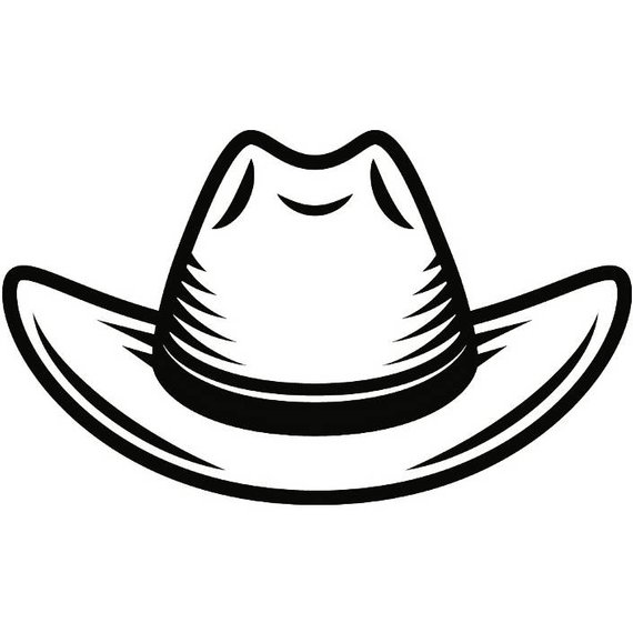 Cowgirl Hat Drawing