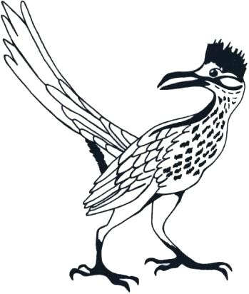 349x412 Popular Roadrunner Clipart Tree And Bird Miniature Quilt