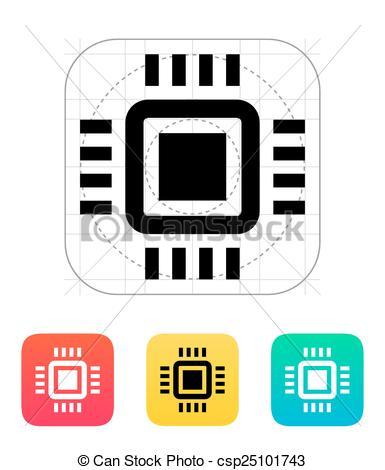 385x470 mini cpu icon vector illustration vector illustration