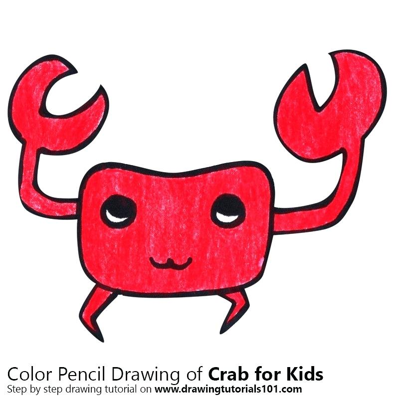 800x800 easy to draw crab learn to draw crab easy draw crab step