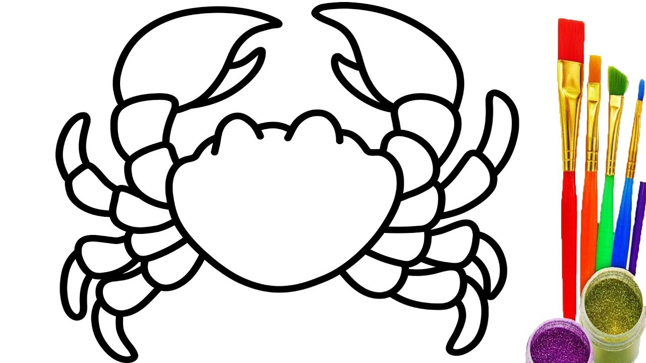 Crab Drawing For Kids