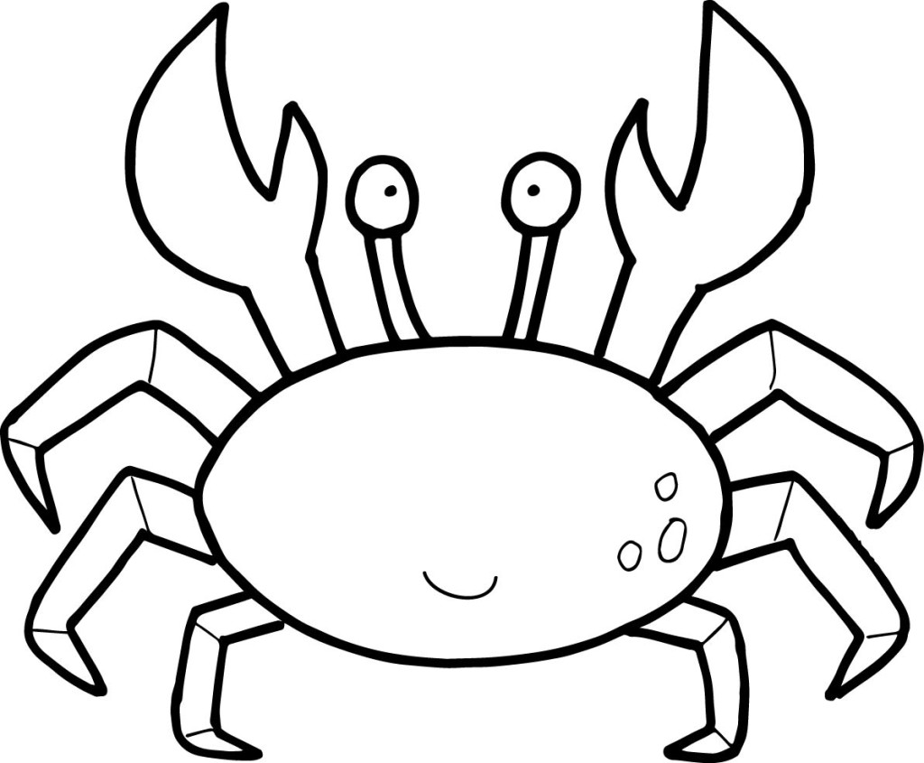Crab Line Drawing