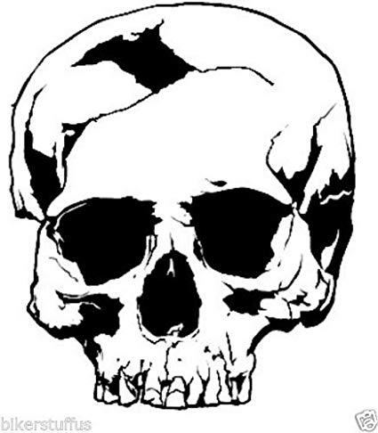 425x486 gadgets wrap cracked skull sticker bumper sticker