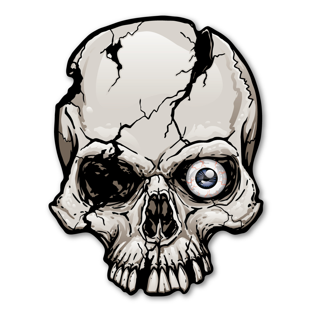 1200x1200 one eyed cracked skull magnet magnet america