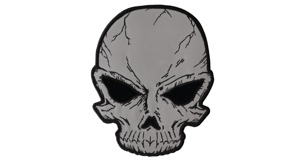1200x630 reflective skull large back patch skull patches thecheapplace
