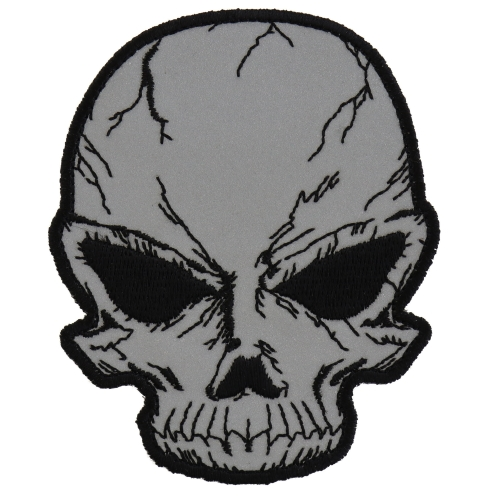 500x500 reflective small cracked skull patch skull patches thecheapplace