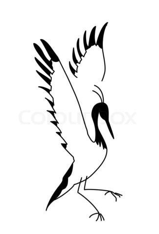 325x480 japanese crane tattoo designs stock image of 'silhouette crane