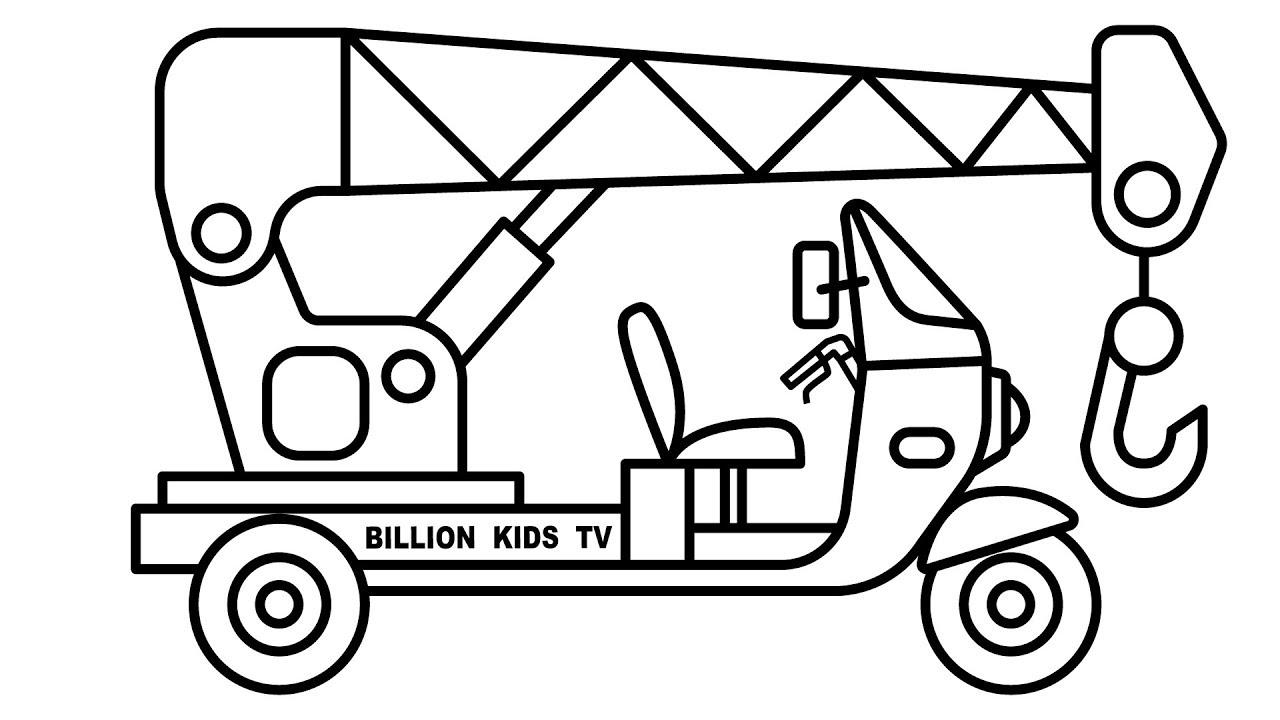 Crane Truck Drawing