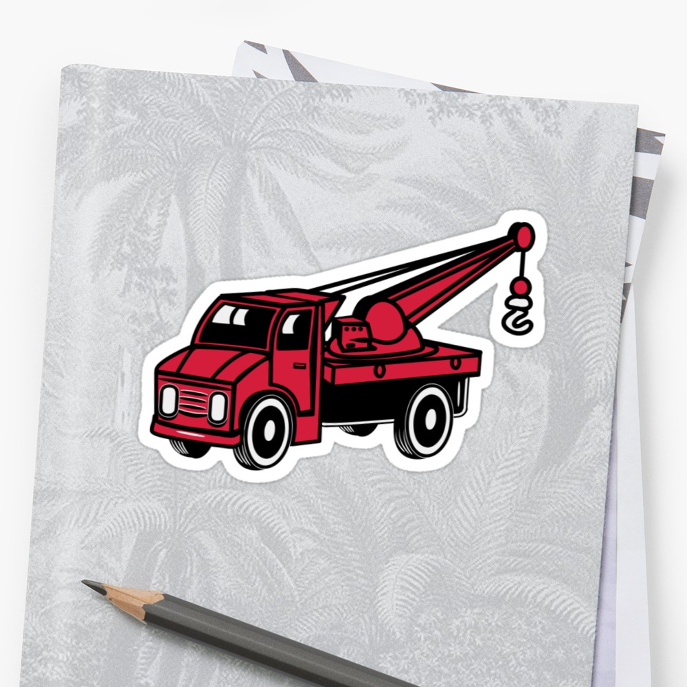 1000x1000 car toy truck crane tow truck mounted crane truck sticker
