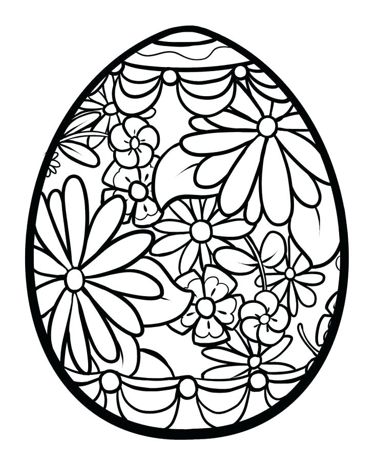 736x911 Easter Egg Coloring