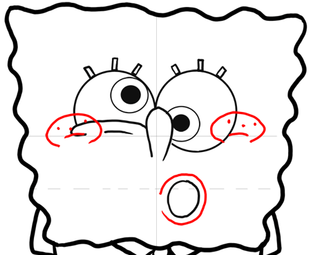 450x369 Step Drawing Crazy Spongebob Squarepants Lesson