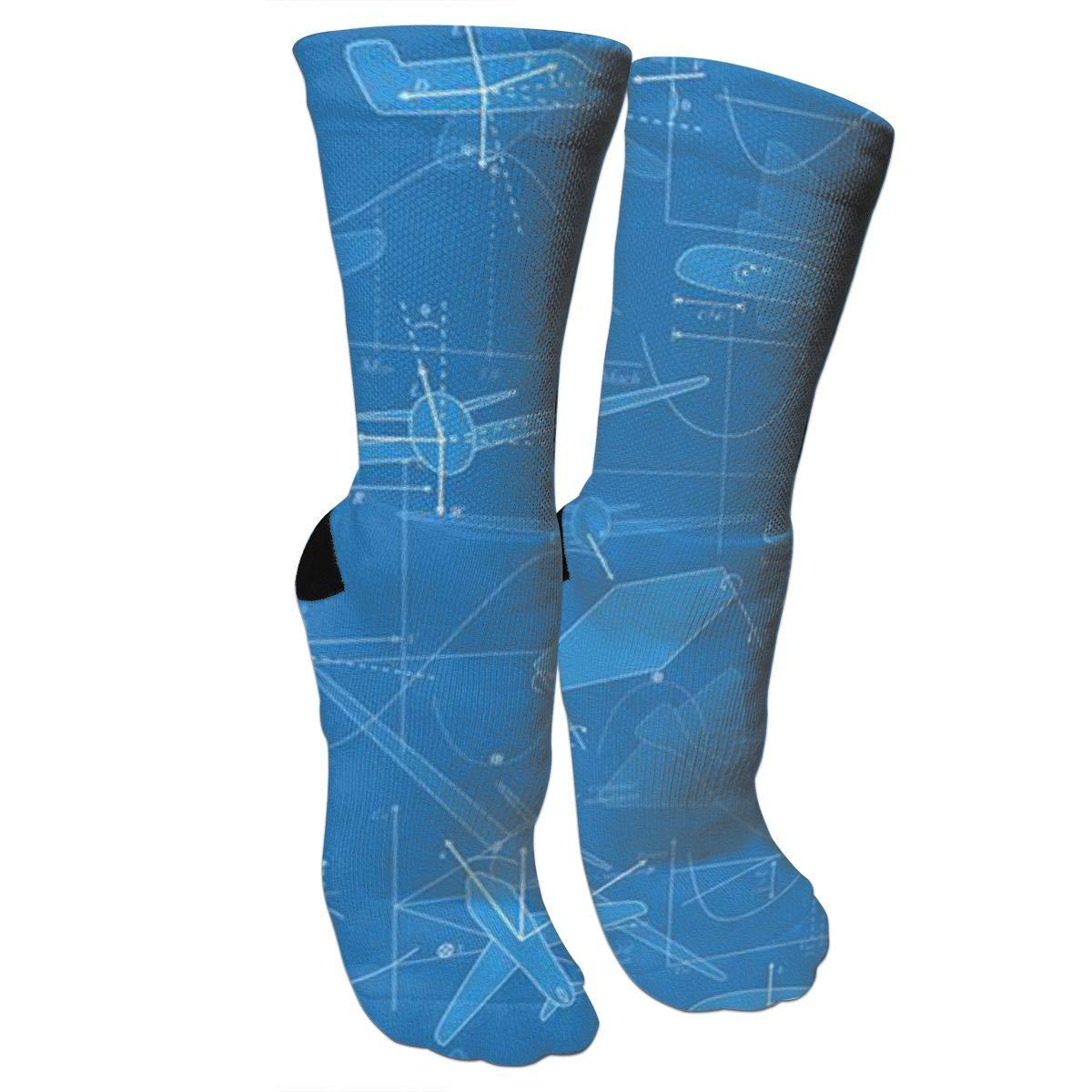 1200x1200 Lalabulu Crazy Socks Flight Drawings Crew Socks