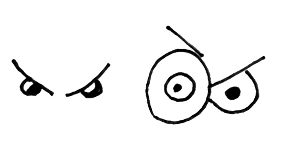 563x300 How To Easily Draw Cartoon Eyes To Show Different Emotions