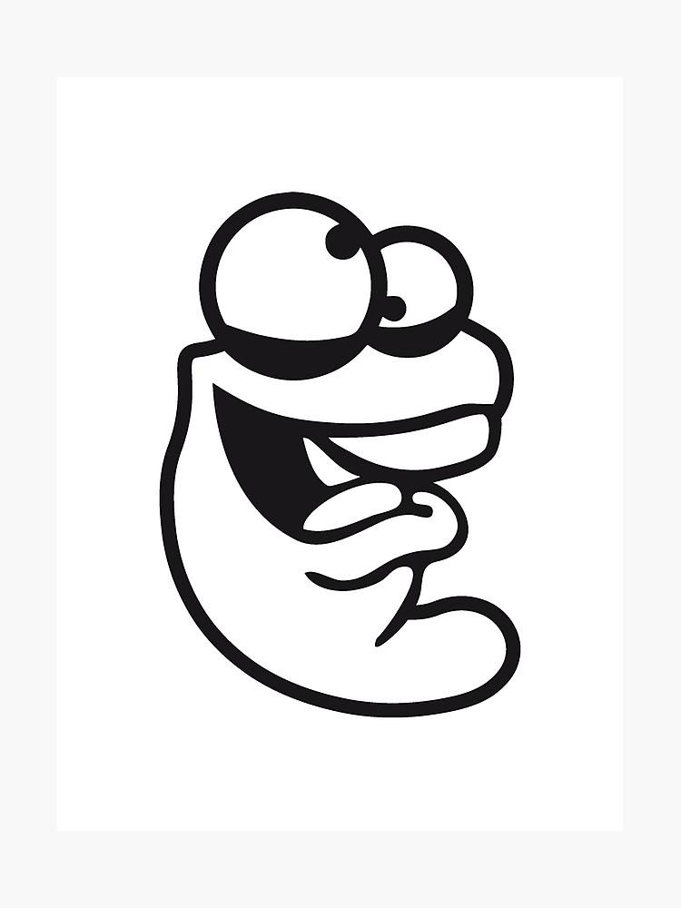 750x1000 Confused Worm Head Caterpillar Crazy Cartoon Cartoon Face Laugh