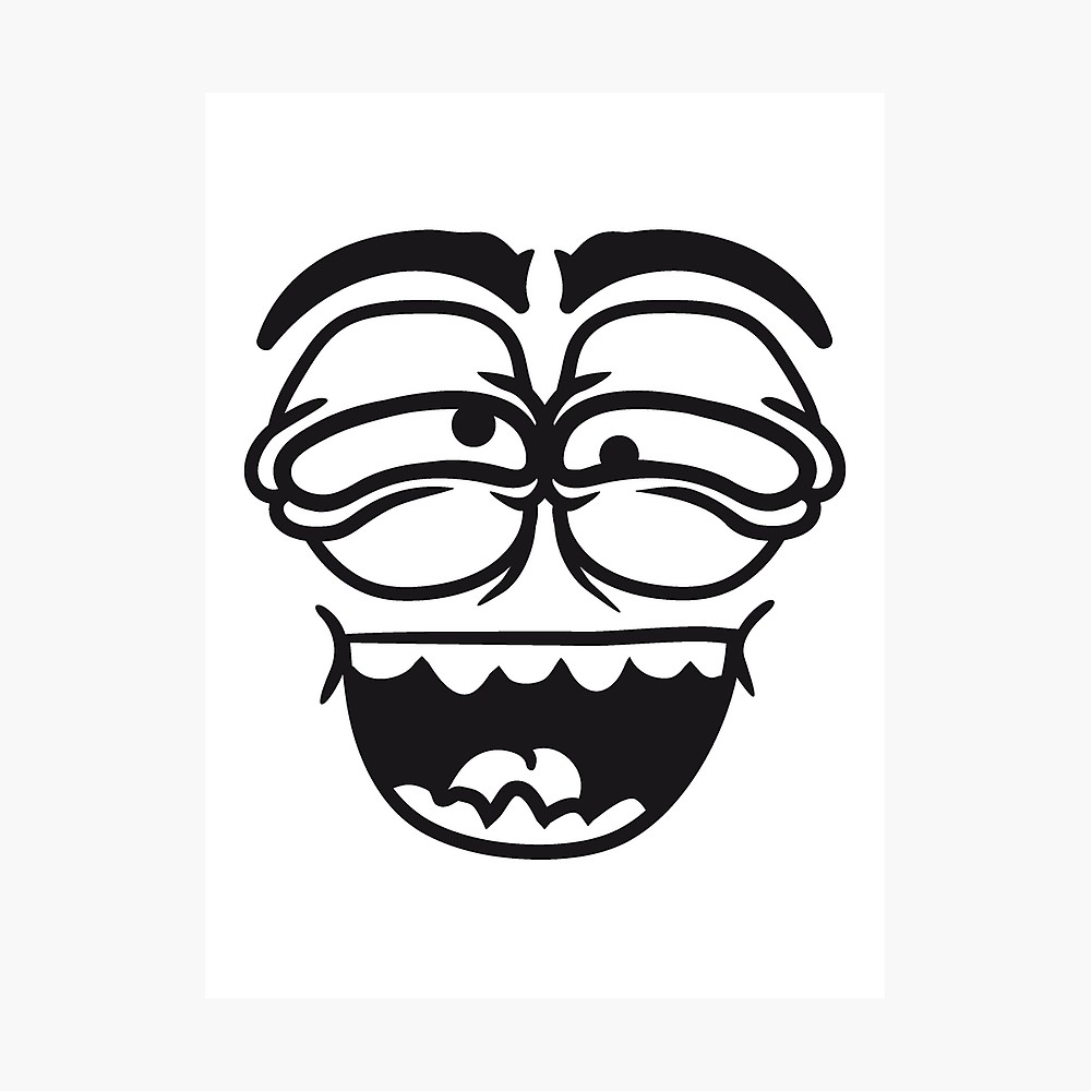 1000x1000 laugh mouth look eyes evil grimace crazy crazy face comic cartoon