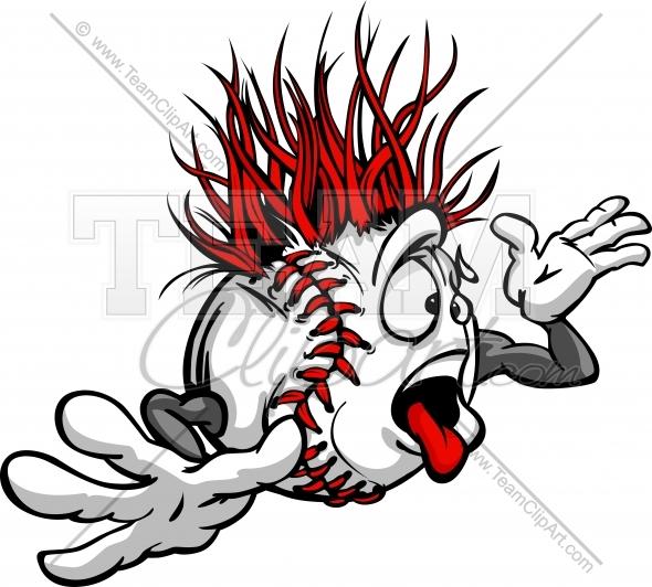 590x532 Crazy Baseball Cartoon Clipart Image Of A Wacky Baseball Ball