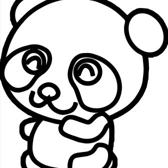 336x336 Cute Panda With Bamboo Drawing Ice Cream Drawings In Pencil Really