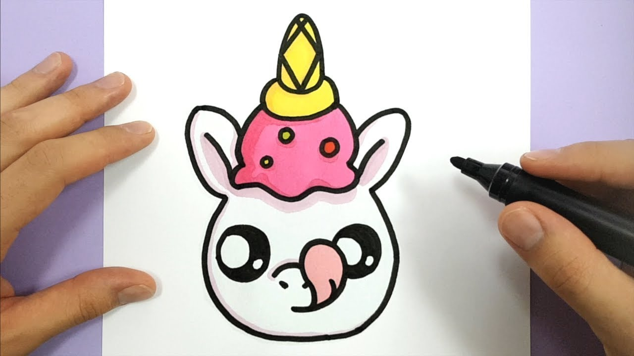 1280x720 How To Draw A Cute Unicorn With An Ice Cream