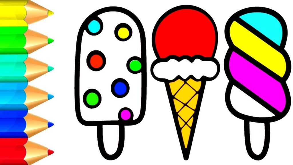 1024x576 Ice Cream Coloring Pages For Baby