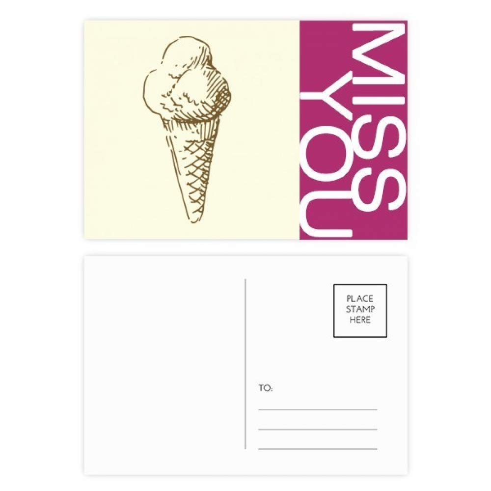 1000x1000 Sweet Ice Cream Hand Drawings Pattern Miss Postcard