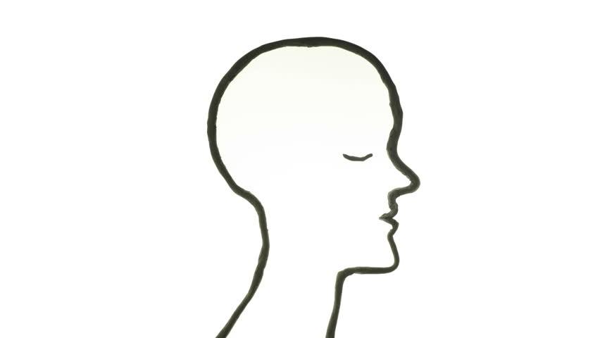 852x480 Creative Brain Idea Concept Animation Stock Footage Video