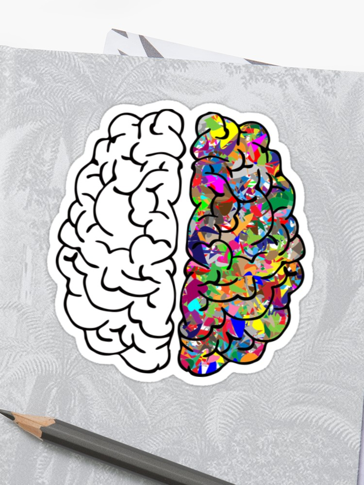 750x1000 Creative Brain Sticker