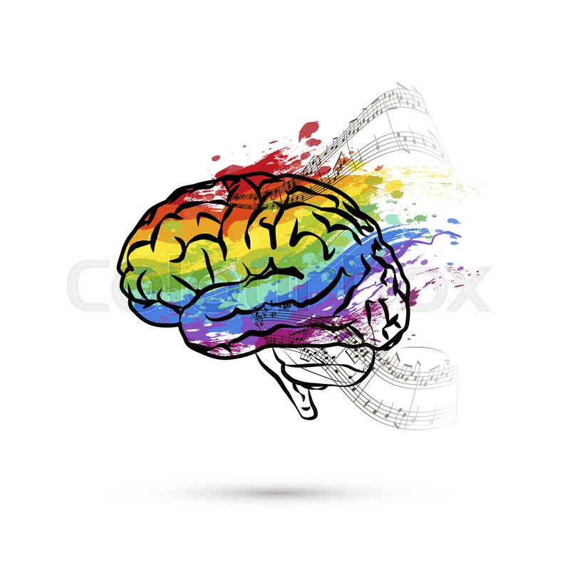 800x800 Creative Hemisphere Of Human Brain, Stock Vector Colourbox