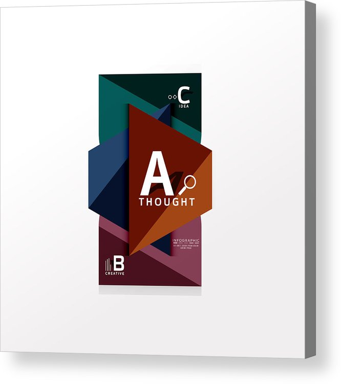 666x750 Geometric Infographic Banner, Paper Info Diagram Created
