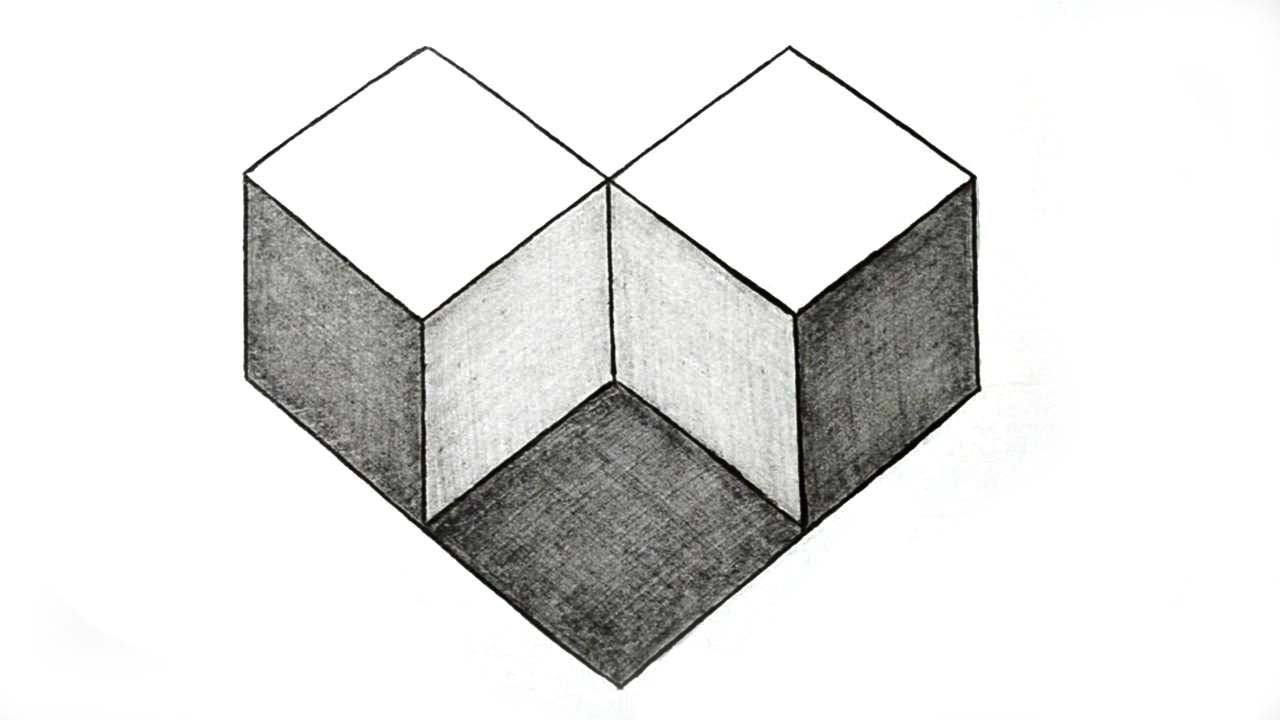 1280x720 How To Draw Simple Geometry Shape Optical Illusion