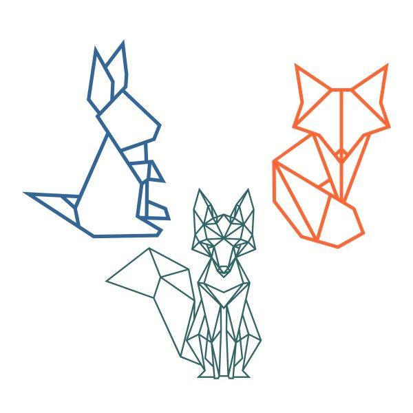 600x600 Animals Geometric Art, Geometric Fox