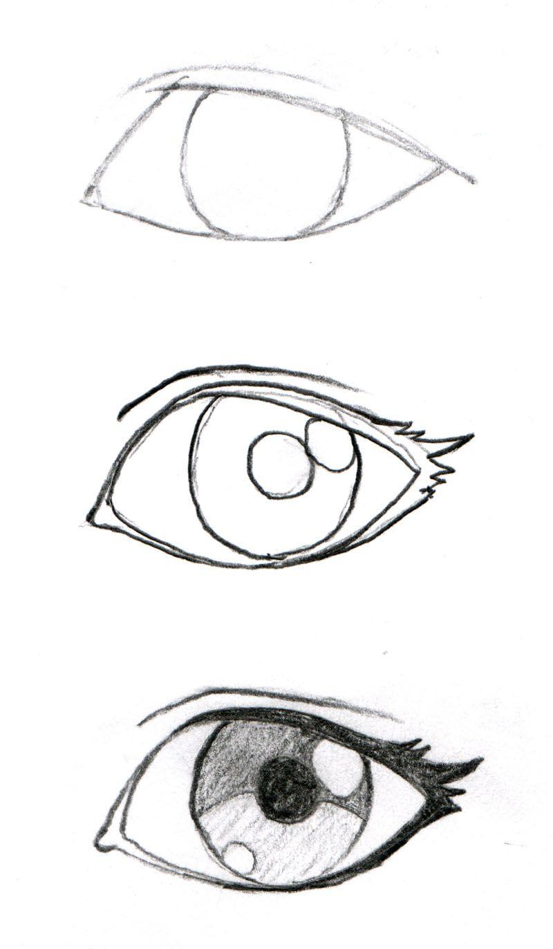 800x1373 Creative Drawings, Art Drawings, Manga Eyes