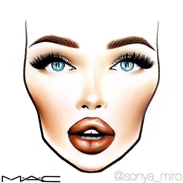 640x640 Aubreytate Face Charts Makeup Face Charts, Makeup Charts, Makeup