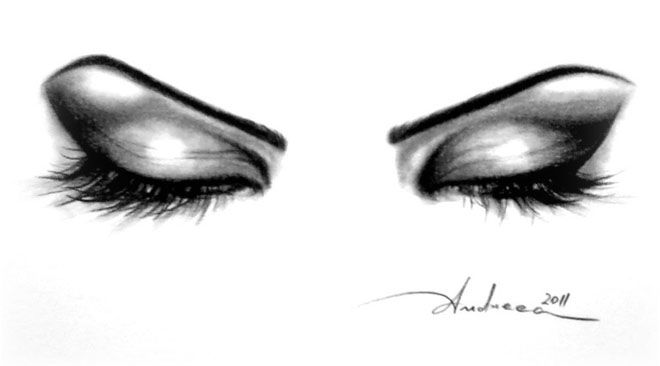 660x366 Beautiful And Realistic Pencil Drawings Of Eyes Art