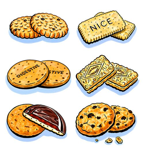 507x540 Biscuits, Creative Eye Britsh Tea Party Food Drawing, Dessert