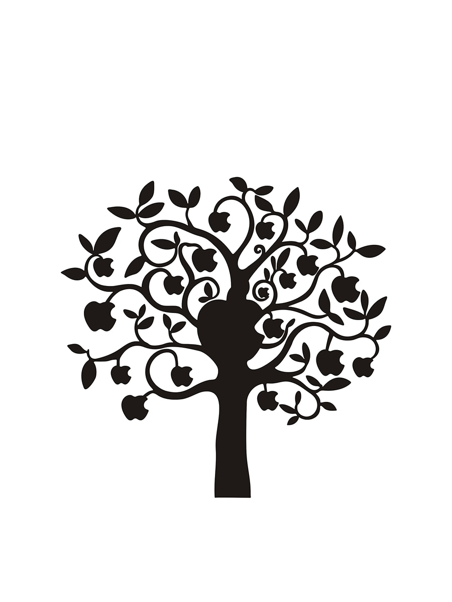 900x1200 Buy Laptop Membrane Tree Design Creative Partial Sticker