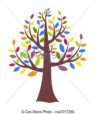 399x470 creative tree fantasy creative tree with colorful leaves vector