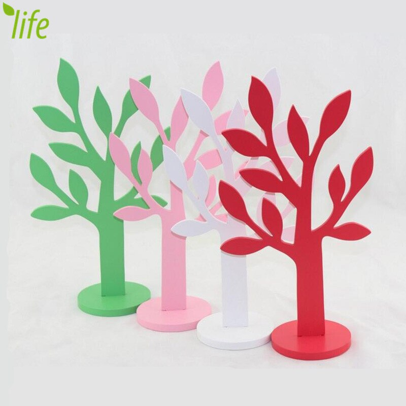 800x800 Dmls Lovely Tree Figurines Solid Wood Artware Creative Gift