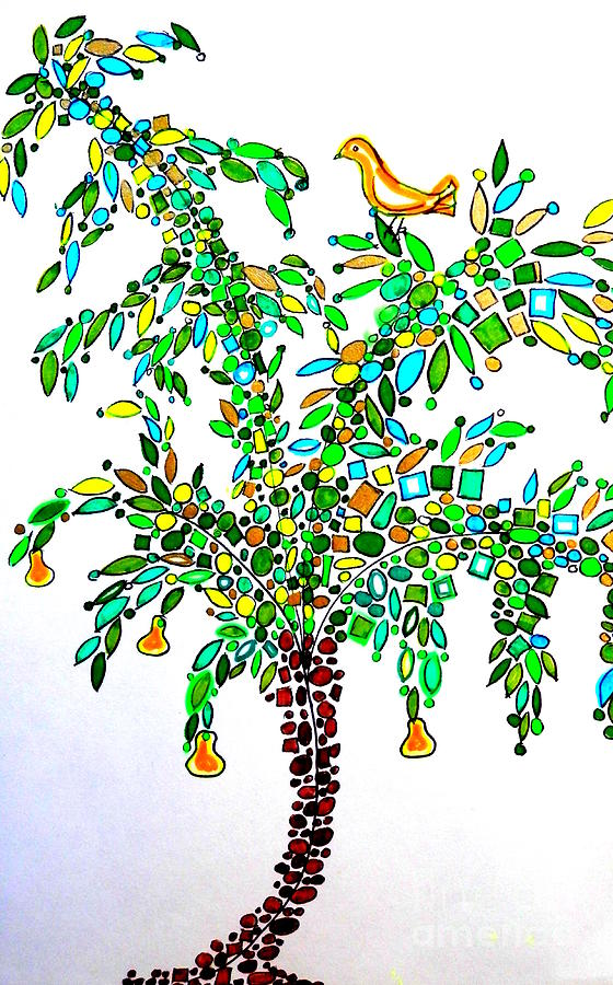 560x900 Partridge In A Pear Tree Drawing