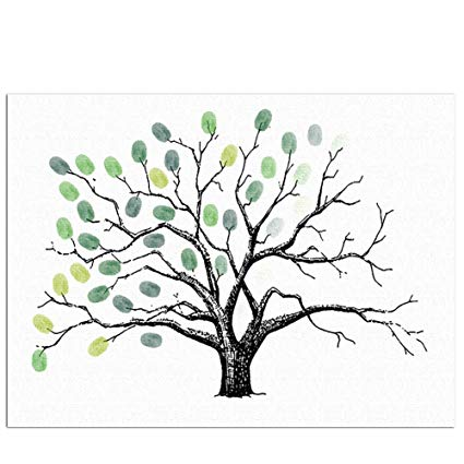 425x425 Little Rock Fingerprint Tree Creative Wedding Party