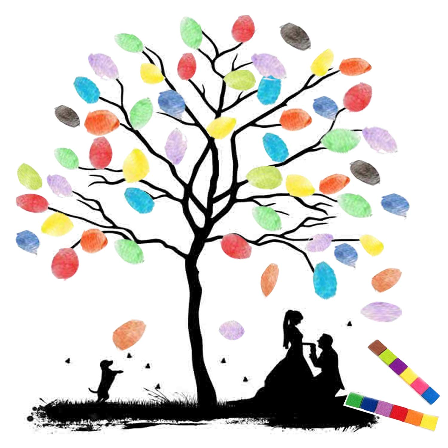 1500x1500 Thickening Waterproof Fingerprints Tree