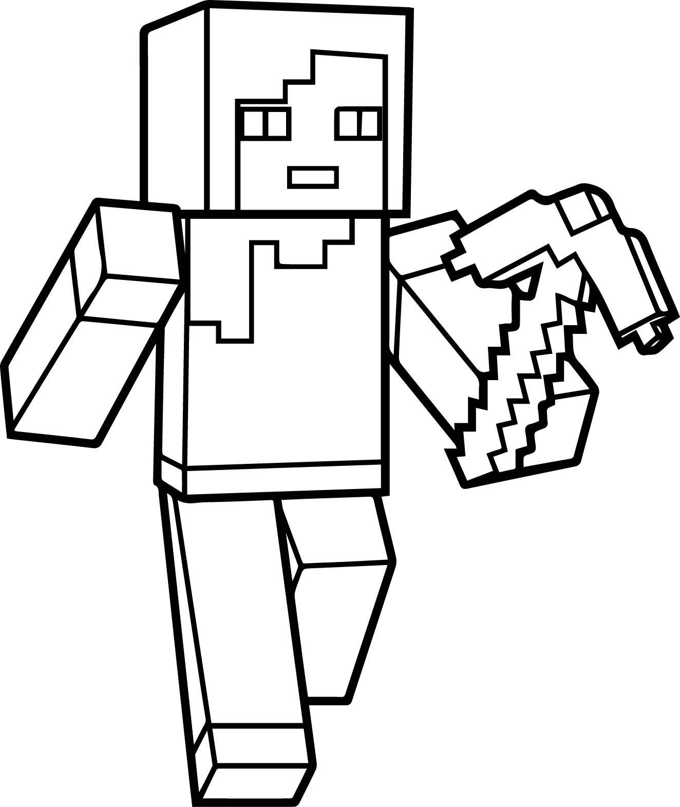 Minecraft Para Pintar Creeper Minecraft Creeper Coloring Pages 01