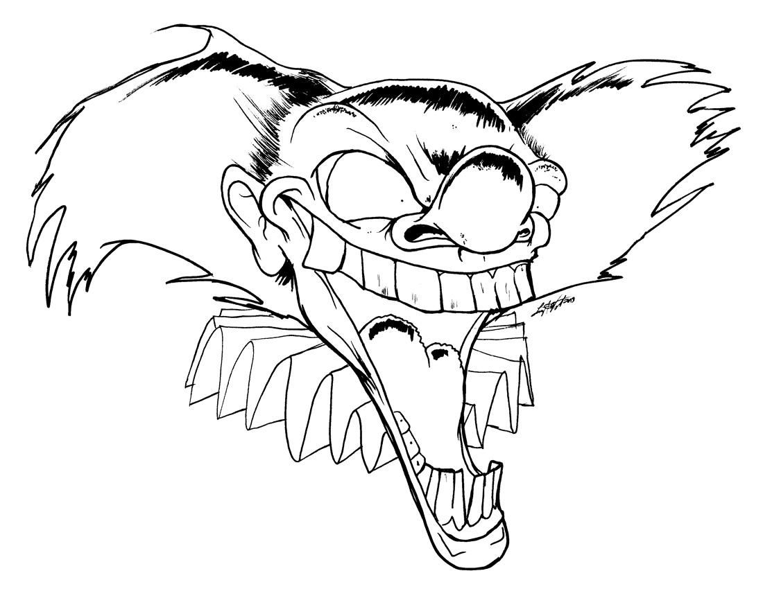 Creepy Clown Drawings | Free download on ClipArtMag