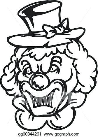 336x470 evil clown drawings coloring pages of scary clowns great evil