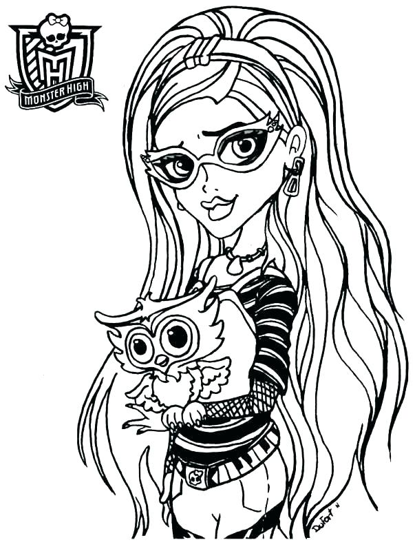603x800 Color Monster High Doll Coloring Pages Characters Dolls