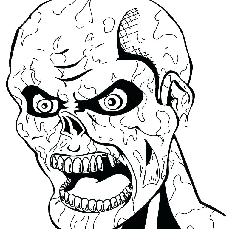788x768 Creepy Coloring Pages Scary Monster Printable Coloring Pages Free