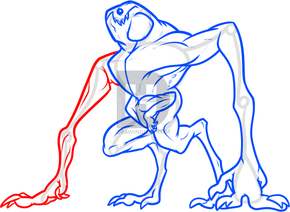 984x720 How To Draw The Cloverfield Monster, Step