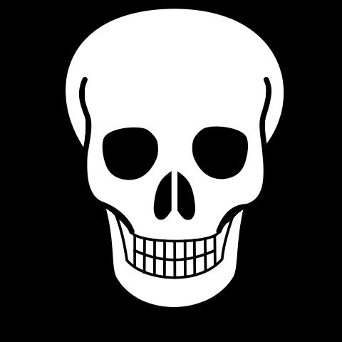 Creepy Skull Drawing