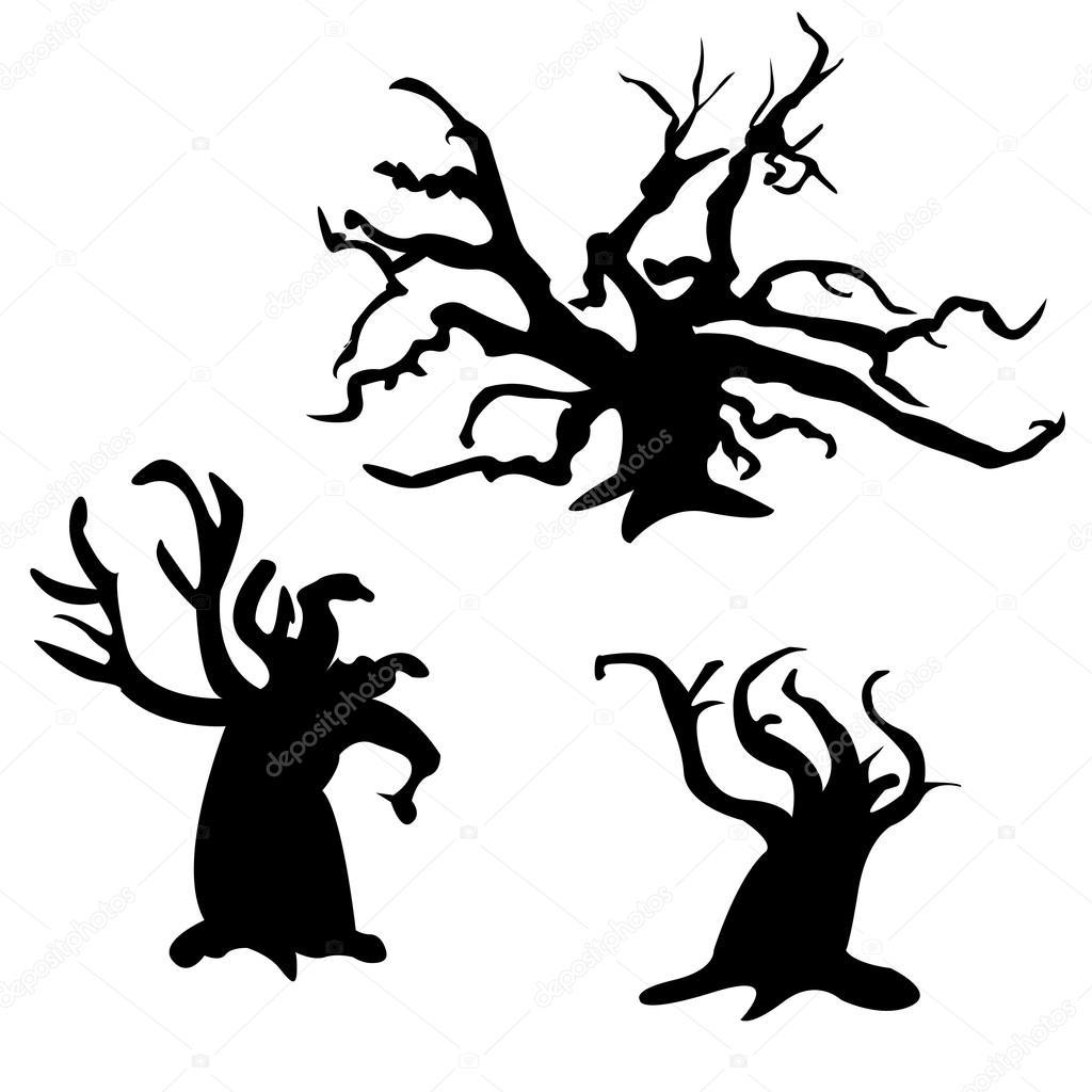 Creepy Tree Drawing